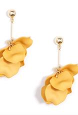 Jewelry Painted Petals Earrings Honey