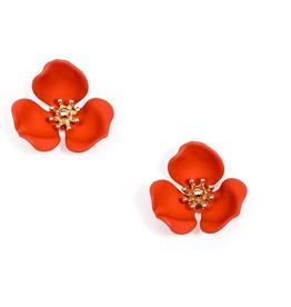 Jewelry Blooming Lotus Earrings Flame