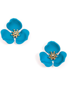 Jewelry Blooming Lotus Earrings Turquoise