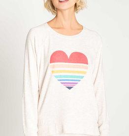 PJ Salvage Heart Stripe Top