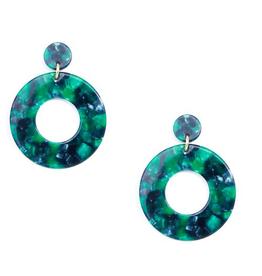 Jewelry Chunky Hoop Earring Green