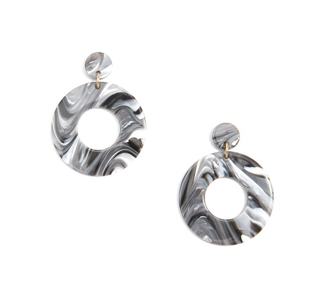 Jewelry Chunky Hoop Earring Gray