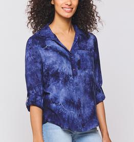 Velvet Heart Elisa Tie Dye Shirt Navy
