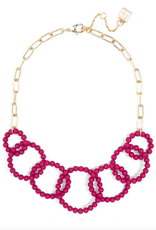 Jewelry Matte Beaded Links Necklace