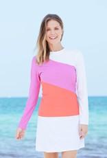 Cabana Life Color Block Rashguard Coral