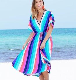Cabana Life Tie Waist Dress Stripes