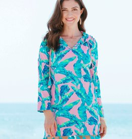 Cabana Life Hooded Cover Up Preppy Palm