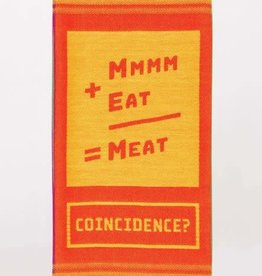 Blue Q Mmmm+Eat=Meat. Coincidence? Dish Towel