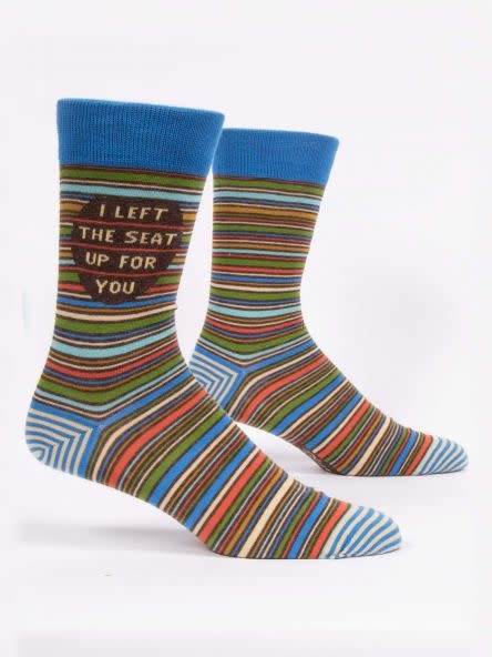 Blue Q I Left The Seat Up For Your Men's Crew Socks