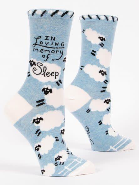 Blue Q In Loving Memory Of Sleep Women's Crew Socks