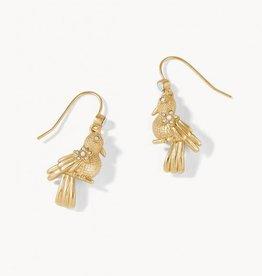 Spartina Songbird Drop Earrings Gold