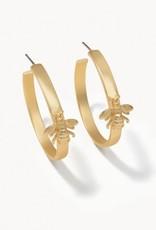 Spartina Sticky Bee Hoop Earrings