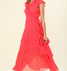 Hale Bob Annalisa Flounce Wrap Dress