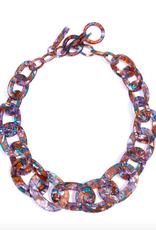 Zenzii Multi Colored Links Collar Necklace