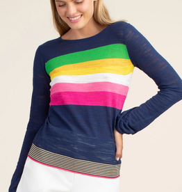 Trina Turk Reserved Sweater Rainbow Stripes