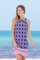 Cabana Life Navy Geo Halter Dress