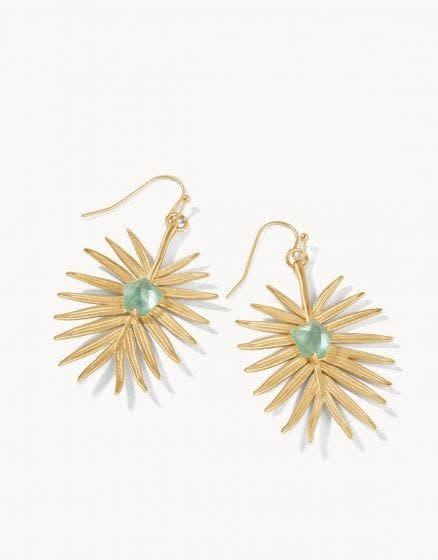 Spartina Palm Earrings Aqua
