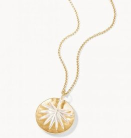 """Spartina Palm Necklace 18"""" Pearlescent"""