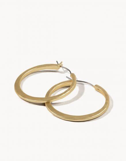 Spartina Textured Hoop Earrings Gold