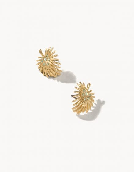 Spartina Palmetto Frond Earrings Gold