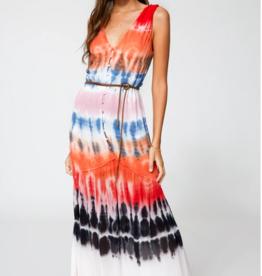 Young Fabulous & Broke Raquel Dress Rainbow Wash