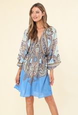 Hale Bob Serafina Dress Blue