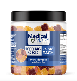 Medical Mary 1000 MG Infused Full Spectrum Square Gummies