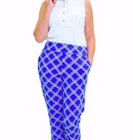 Katherine Way Panama Pant Bamboo Royal