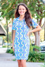 Katherine Way Austin Dress Fleur Royal