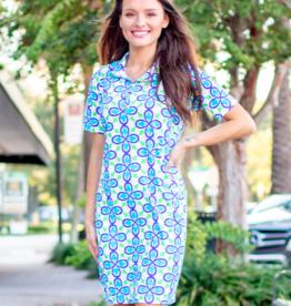 Katherine Way Austin Dress Fleur Royal