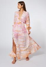 Young Fabulous & Broke Meadow Dress Peach Bamboo Wash