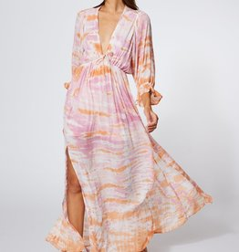 Young Fabulous & Broke Meadow Dress Peach Bamboo Wash