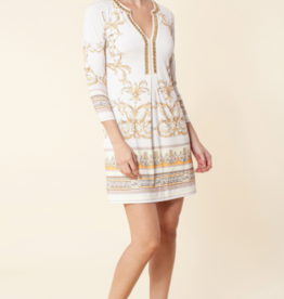 Hale Bob Angela Jersey Dress Ivory