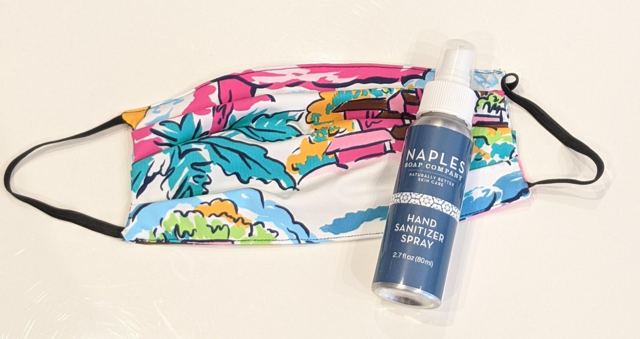 Face Mask Hand Sanitizer Spray Set Aruba