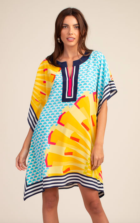 Trina Turk Theodora Dress Multi Sunshine