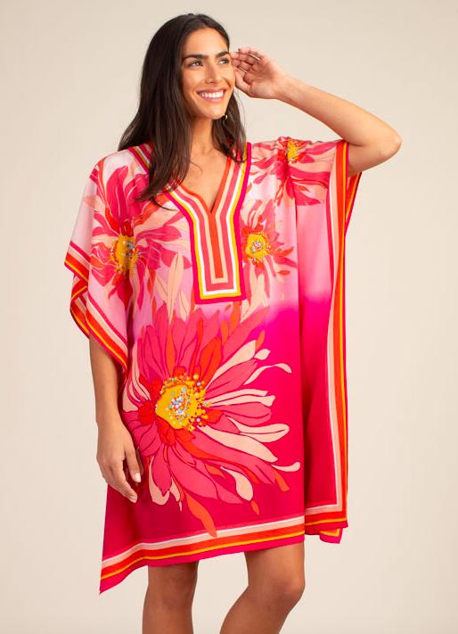Trina Turk Theodora Dress Pink Floral
