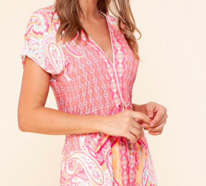 Hale Bob Carlene Jersey Dress Pink
