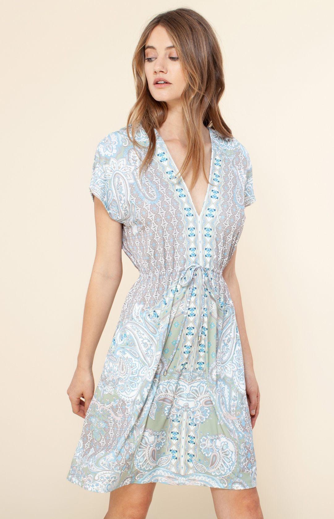 Hale Bob Carlene Jersey Dress Sage