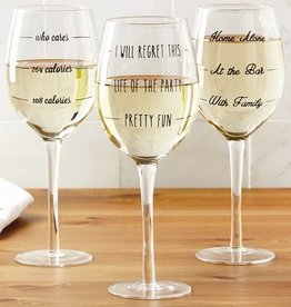 Two's Company Novelty Wine Glass