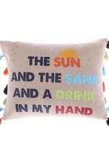 Levtex Sun Sand and Drink PIllow