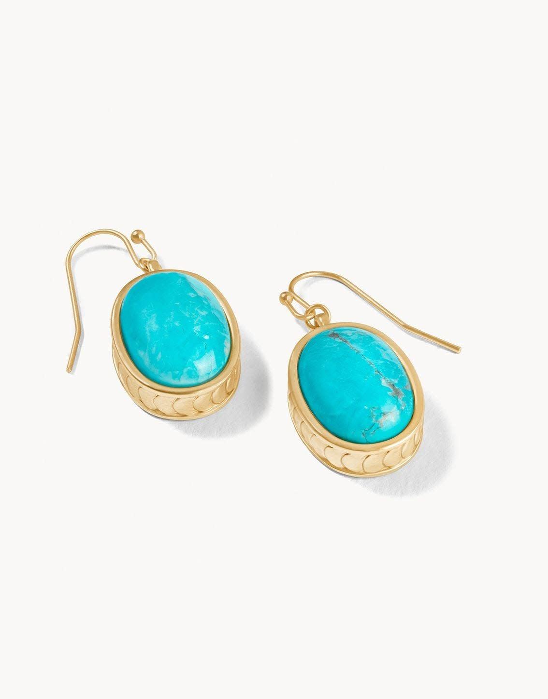 Spartina Naia Oval Earrings Gold