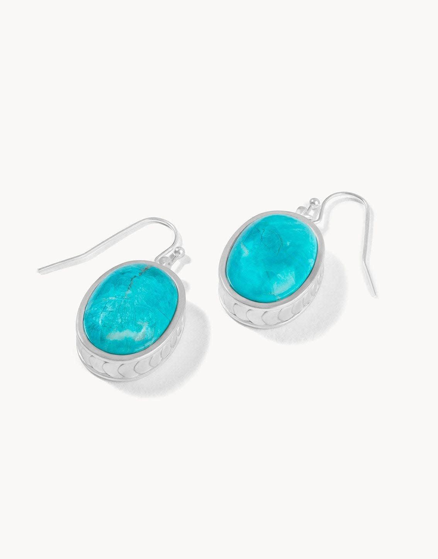 Spartina Naia Oval Earrings Silver
