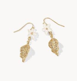 Spartina Flower Leaf Earrings