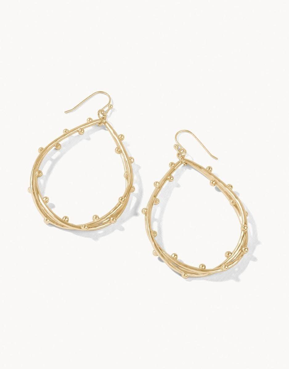 Spartina Spritz Teardrop Earrings Gold