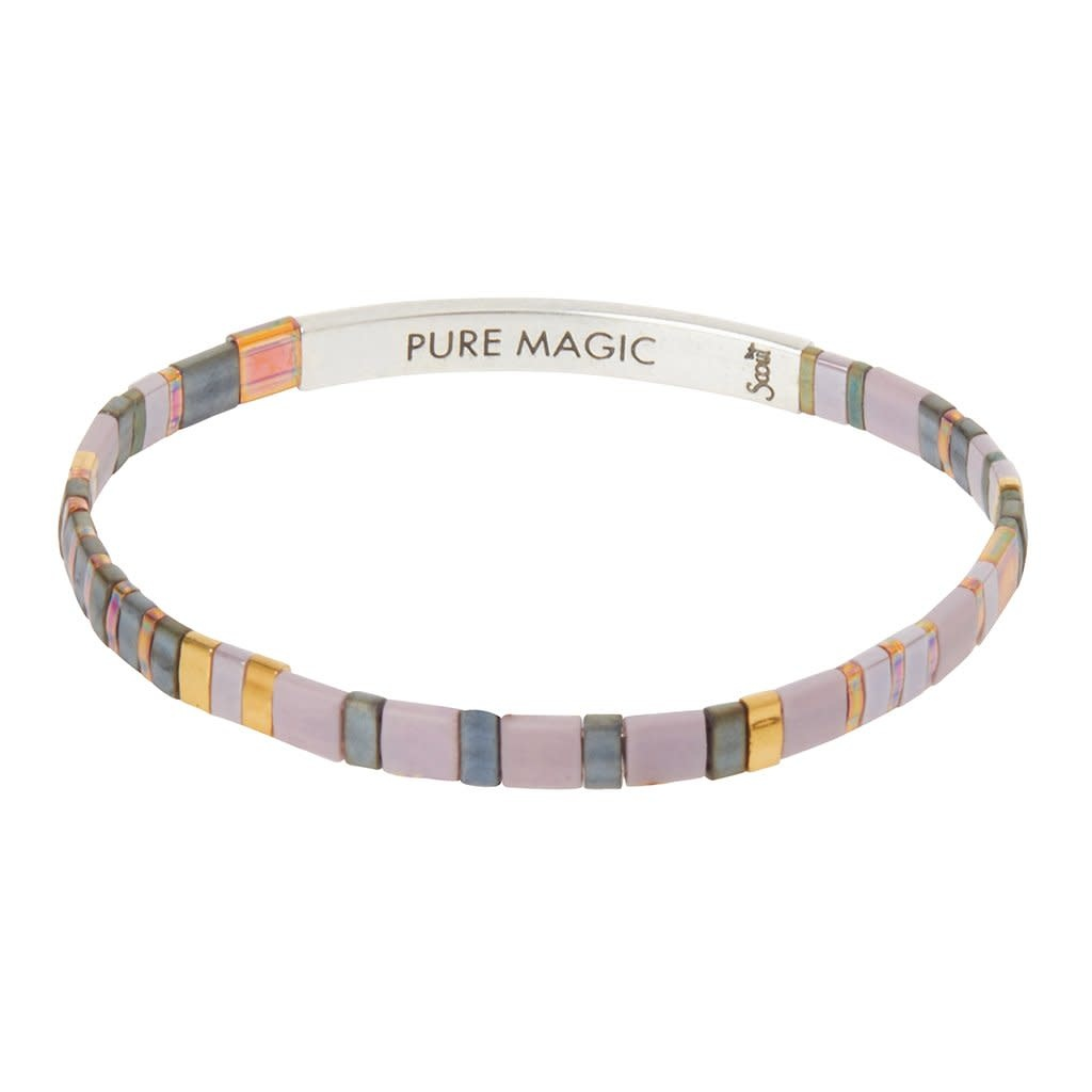Scout Curated Wears Good Karma Miyuki Bracelet | Pure Magic - Dusk/Silver