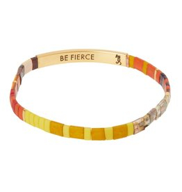 Scout Curated Wears Good Karma Miyuki Bracelet | Be Fierce - Sunset/Gold