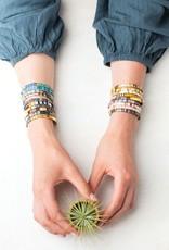 Scout Curated Wears Good Karma Miyuki Bracelet | Be Fierce - Sunset/Gold