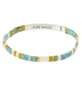 Scout Curated Wears Good Karma Miyuki Bracelet | Pure Magic - Turquoise/Silver