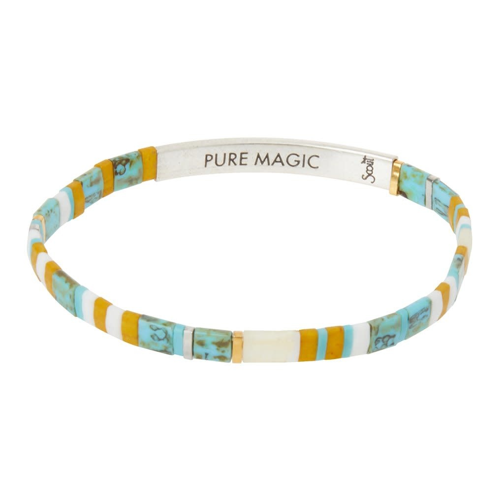 Scout Curated Wears Good Karma Miyuki Bracelet | Pure Magic - Turquoise/Silver