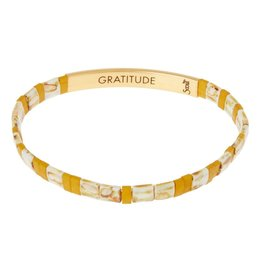 Scout Curated Wears Good Karma Miyuki Bracelet | Gratitude - Amber/Gold